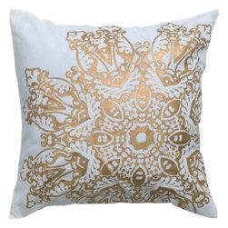 """Rizzy - Rizzy T05008 Pillow, 18"""" x 18"""" - Pillow with Hidden Zipper"""