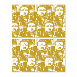 Design Your Wall - Gold Buddha - Wallpaper Tiles - Featured Designs by Astek Inc