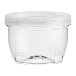 Medium Lock Up Jar with Lid - Stackable containers with twist-lock lids provide easy, secure storage. Designed for busy lifestyles, each container can hold craft accessories, hardware, vanity or office supplies, and more.