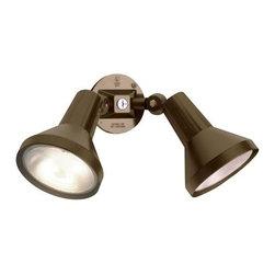 "Nuvo Lighting - Nuvo Lighting 77/495 Two Light 15"" PAR38 Exterior Flood Light with Adjustable Sw - Nuvo Lighting 77/495 Two Light 15"" PAR38 Exterior Flood Light with Adjustable Swivel, in Dark Bronze FinishNuvo Lighting 77/495 Features:"