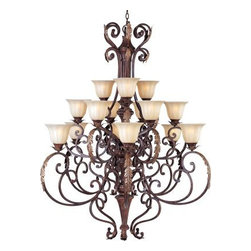 Maxim Lighting - Maxim Lighting 13567CFAF Augusta 15-Light Chandelier In Auburn Florentine - Features