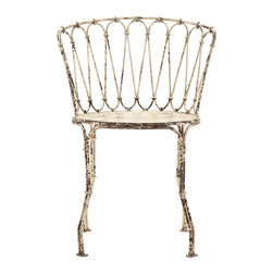 Iron Chair - This is a fun iron chair for a patio.