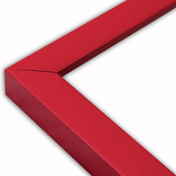 The Frame Guys - Narrow Flat Red Picture Frame-Solid Wood, 8.5x11 - *Narrow Flat Red Picture Frame-Solid Wood, 8.5x11