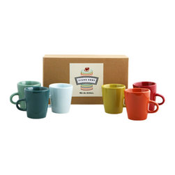 Demitasse Cups - I resolve to spend less money at the coffee shop and brew some drinks at home — but not without a set of colorful mugs.