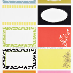 Round & Square Gift Labels - Get labeling if you want to get organized. But use fun, decorative labels like these to make it a little more visually interesting.