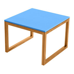 Commonhouse Furniture - Frame Table, Cocktail Table - Be a rebel and venture outside the world of standard round and rectangle coffee tables with this perfectly square cocktail table. Convey your individuality even further when you choose this fun blue color.
