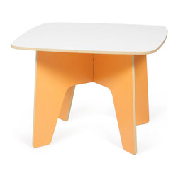 Quark Enterprises - Kids Table, Orange/White - This looks like a fresh take on a folding table. Having a kids table that can be easily assembled for crafts or snack time and then hidden it away at the end of the day is great for any family. And you won't have to pull out the tool box to get it all done.
