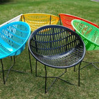 """Solair Patio Chair - Made in Canada - Save 10%! Click """"Visit Store"""" then use coupon code """"Houzz10"""" at checkout. The Solair Patio Chair is a Canadian Classic. Available in 9 fun and modern colours, the Solair chair is very comfortable, easy to clean, and stackable when disassembled."""