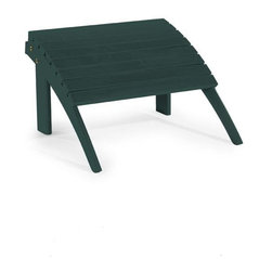 Linon - Woodstock Ottoman, Green - Dimensions: 21.5 x 21.5 x 13.5 inches
