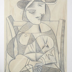Great Pablo Picasso Estate Collection Femme Assise Hand Signed with COA - PABLO PICASSO ESTATE COLLECTION