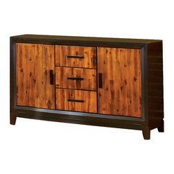 Steve Silver - Abaco Side Board - The Abaco sideboard is the perfect compliment to the Abaco dining collection. Featuring a very unique multi-step acacia finish this piece offers loads of style and function.