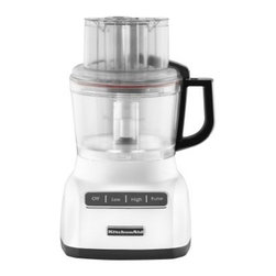 KitchenAid KFP0922 9 Cup Food Processor - White - The clean look of the KitchenAid KFP0922 9 Cup Food Processor - White makes it almost as beautiful as it is useful. The Exact Slice system makes quick and easy work of foods from soft to hard. You won't have a hard time putting this accessory to daily use, and you'll marvel at the wonders that come out of your kitchen.