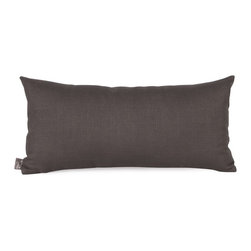 Howard Elliott - Sterling Kidney Pillow - Change up color themes or add pop to a simple sofa or bedding display by piling up the pillows in a multitude of colors, textures and patterns. This Sterling Pillow features a linen-like texture in a deep sultry charcoal grey.
