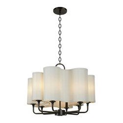 Josephine Chandelier - This wavy chandelier is a wonderful transitional piece; the amoeba-like shape of the shades makes it modern, the chain, armature and finishes lend traditional style.