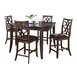 Set Of 4 Vancouver Dining Chairs With Solid Wood Seat In