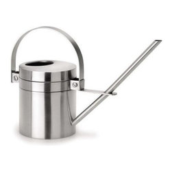 Blomus - Aguo Stainless Steel Watering Can - Capacity: 1.4 liters. Made of stainless steel. Designed by Stotz-Design. 1-Year manufacturer's defect warranty. 13.43 in. Dia. x 9.09 in. H