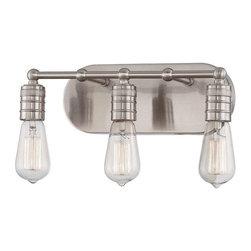 Minka Lavery - Minka Lavery 5135-84 Downtown Edison Bathroom Light In Brushed Nickel - Manufacturer: Minka Lavery