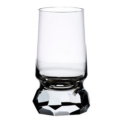 Bomma - 12.5 Ounce Stone Collection Crystal Water Glass - Set of 2 - Set of 2 - The Stone 12.5 oz. crystal water glass has an unforgettable base. Designer Jiri Pelcl has emphasized the contrast between the smooth conical shapes of the body of the glass and massive irregularly cut stems and bases of his pieces, creating an extraordinary composition. This architectural approach, which is quite original in the luxury glassware industry, gives the Stone collection a unique look, emphasizing its masterful craftsmanship and forcing the user to hold the glass by the cut parts rather than by the body of the piece itself.