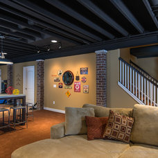 Contemporary Basement by Kate Benjamin Photography LLC