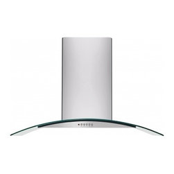 """Frigidaire - FHPC3660LS Gallery Series 36"""" Island Mount Chimney Range Hood with 400 CFM Inter - The FHPC3660LS 36 island mount chimney range hood is part of Frigidaire39s Gallery series of range hoods This range hood comes with a 3 speed 400 CFM blower providing enough ventilation for your kitchen"""