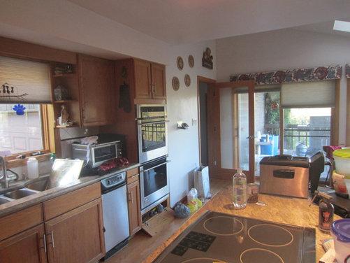 Kitchen Cabinet Color Selection, 80's Honey Oak please help.