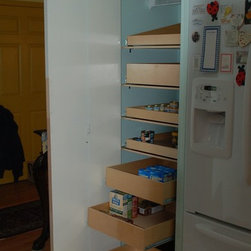 Closet and Walk-In Pantries - Increase your pantry's storage potential with ShelfGenie of Seattle pull out pantry shelves.