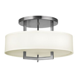 Hinkley Lighting - Hinkley Lighting 3201AN Hampton 3 Light Semi-Flush Mounts in Antique Nickel - 20 3Lt Semi Flush Foyer