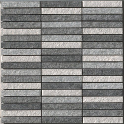 Saime - Luserna Mosaic Mix Multi-Grid 0.5 x 3.75 - Saime's Italian porcelain collection Luserna Roc, will add texture and class to any setting.