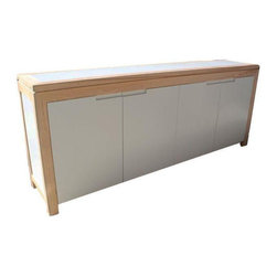 Large Pine & White Lacquered Sideboard - $3,500 Est. Retail - $1,500 on Chairish -