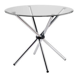 Eurostyle eurostyle hydra 36 inch round glass dining for 13 inch round glass table top