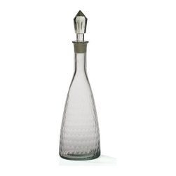 Go Home - Glass Honeycomb Decanter - Honeycomb Decanter available as pair faceted glass surface is formed from tiled hexagons that add visual interest.Making this an ideal way to contrast with the curves and horizontal emphasis in an arrangement of fine glassware or barware.
