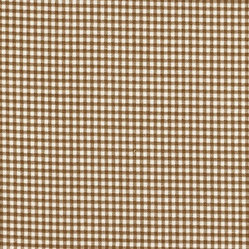 "Close to Custom Linens - Bradford Valance Suede Brown Gingham Check - A charming traditional gingham check in suede brown on a cream background.Lined cotton.Total Size is 52"" wide x 17"" long.Length is measured from the top of the rod pocket to the bottom edge. 3"" rod pocket, 2"" header, 3"" hem."