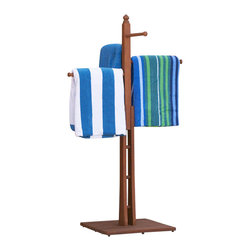 Southern Enterprises - Southern Enterprises Towel Rack in Natural - Southern Enterprises - Bath Accessories - CR8901. Excellent by the patio or pool or even bathtub, this towel rack offers a convenient place to hang your towels. Featuring all eucalyptus construction this towel rack is study and durable to withstand the elements of your outdoor space. Your family will be sure to love this addition to your home.