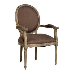 Medallion Arm Chair - Aubergine, Limed Grey