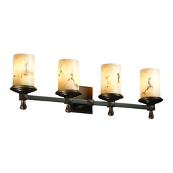 Justice Design Group - Justice Design Group FAL-8534 Deco 4 Light Bathroom Bar Fixture from the LumenAr - Justice Design Group FAL-8534 Deco 4 Light Bathroom Bar Fixture from the LumenAria CollectionThe LumenAria� Collection offers the look of genuine carved alabaster without the cost. These faux alabaster fixtures combine many of your favorite Justice Design Group, LLC shapes with the warmth and beauty of an alabaster glow.From an elegant lamp atop a contemporary end table to a dramatic sconce illuminating a formal entryway, Justice Design offers a wide array of lighting solutions for residential and commercial settings. Create a mood, complement a theme, or simply add the perfect accent with a Justice Design decorative lighting fixture.