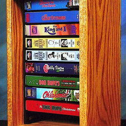 Wood Shed - Desktop Media Storage w Individual Locking Sl - Finish: UnfinishedOne shelf. Capacity: 10 VHS tapes. Made from solid oak. Honey oak finish. 9.5 in. W x 7 in. D x 14.25 in. H
