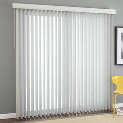 "3 ½"" Premium Smooth Vertical Blinds - Cover a large window or use these smooth vertical blinds to cover your sliding glass door."