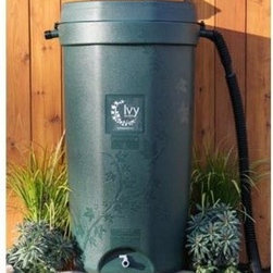 Rain Water Solutions 50 Gallon Rain Barrel - The all new Rain Water Solutions 50 Gallon Rain Barrel is made in the U.S.A. of 50% recycled plastic. Not only does it use recycled materials in its construction, but when this rain barrel reaches the end of its life, it's recyclable, too! It comes complete with everything you need to start collecting and using rainwater right away. In a beautiful forest green color, this barrel has an embossed Ivy pattern. The dark color helps keep UV out of the water to help with water quality. It has an integrated, screened inlet to prevent debris and insects from entering the rain barrel, and a child-resistant lid. Two large overflow ports help this barrel handle heavy rains. Made to last a life time of HDPE with UV inhibitors.About Rain Water SolutionsRain Water Solutions manufactures and distributes rain barrels, in addition to designing and installing rainwater harvesting systems. The company works with residents, local and state agencies, and public and private institutions to develop custom solutions for protecting their landscape investment and reducing the use of costly, treated water. Rain Water Solutions' goal is to educate and engage people on the importance of protecting water quality through conserving water and reducing storm water runoff.
