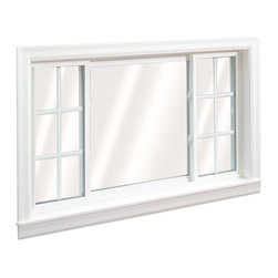 Slider Windows - 3 Lite Wellington Slider Window; shown in White with grids.