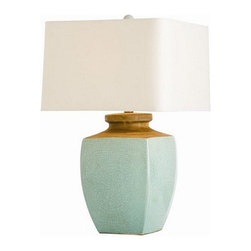 Arteriors Home - Arteriors Home Fawn Lamp - Arteriors Home 17083-251 - Arteriors Home 17083-251 - A beautiful 4 sided urn shape finished in a traditional Asian glaze that has almost been lost in the worlds desire for speed and volume. Has a beige colored square drum shade lined in cotton to match.