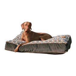 Bowsers Super-Loft Rectangle Dog Bed - Let your furry friend stretch out on the Bowsers Super-Loft Rectangle Dog Bed for a rest in the lap of luxury. It's wrapped in a durable fleece fabric that comes in a number of stylish finishes. It's filled with a recycled fiber that will form to your dog's body for a great cradling effect. You can easily unzip the cover to toss it in the machine for a convenient wash. Choose from these sizes: Large pet bedDimensions: 36L x 26W x 6H inches Extra-Large pet bedDimensions: 46L x 34W x 6H inchesXX-Large pet bedDimensions: 52L x 35W x 6H inches