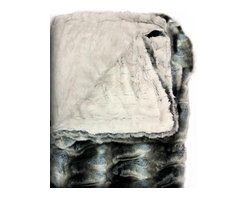 Fur Accents - Luxurious Grey Chinchilla Cuddle Fur, Minky Throw Blanket, Reversible, 4x5 - A Truly Original Animal Theme Cuddle Fur Throw Blanket / Bedspread / Comforter. Rich, Soft Faux Chinchilla Pelt Bedding. Gray and black. Unique and Exclusive Design. Made from 100% Animal Free and Eco Friendly Fibers. Perfect for that special place in your home. This will be the Focal Point of your Bedroom. So comfortable and elegant. Supple Fur tastefully lined with silky soft Cuddle Fur and its Reversible. Luxury, Quality and Unique Style suitable for the most discriminating Designer / Decorator.