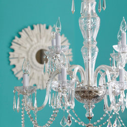 Meet The New Eclecticism - Introduce formal to funky. This crystal chandelier is an unexpected surprise!