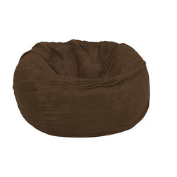Comfort Research - FufSack Large 5-foot Chocolate Lounge Chair - Add this five-foot brown lounge chair to your home and relax in style! This fashionable chair is perfect for your TV room or book nook. The easy-to-clean microsuede fabric and neutral color make it a perfect choice for kids or adults.