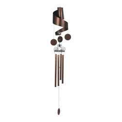 """GSC - 47"""" Curly Copper Toned Wind Chime with Medium Dangling Circles - This gorgeous 47"""" Curly Copper Toned Wind Chime with Medium Dangling Circles has the finest details and highest quality you will find anywhere! 47"""" Curly Copper Toned Wind Chime with Medium Dangling Circles is truly remarkable."""