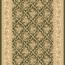 "Dynamic Rugs - Dynamic Rugs Rug, Green, 5' 3"" x7' 7"" - The Legacy Collection by Dynamic Rugs features persian styled rugs with 800,000 points with traditional colors."