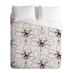 DENY Designs - Rachael Taylor Tonal Floral Duvet Cover - Turn your basic, boring down comforter into the super stylish focal point of your bedroom. Our Luxe Duvet is made from a heavy-weight luxurious woven polyester with a 50% cotton/50% polyester cream bottom. It also includes a hidden zipper with interior corner ties to secure your comforter. it's comfy, fade-resistant, and custom printed for each and every customer.