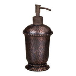 GG Collection - The GG Collection Hammered Soap Dispenser Antique Copper - The GG Collection Hammered Soap Dispenser Antique Copper