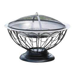Fire Sense - Fire Sense Stainless Steel Urn Fire Pit - This unique fire pit  features a 30