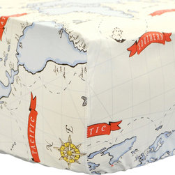 New Arrivals Inc. - Out to Sea in Blue Crib Sheet - Out to Sea in Blue Crib Sheet
